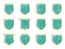 Grunge Shields 2 Stock Photos