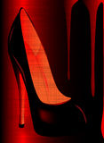 Grunge Shoe Royalty Free Stock Photography
