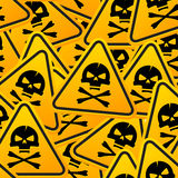Grunge sign� with the scull Stock Image
