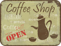 Grunge sign pattern for coffee shop Royalty Free Stock Photo