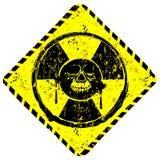 Grunge sign radiation skull Stock Images
