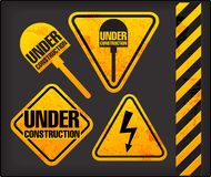 Grunge signs with the lighting and spade Royalty Free Stock Photo