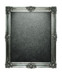 Grunge silver frame. Vintage silver frame with clipping paths for the inside and outside Stock Photography