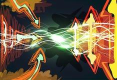 Grunge sinergia background Stock Image