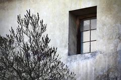 Grunge single window Stock Photos