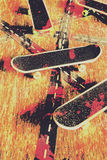 Grunge skate art royalty free stock images