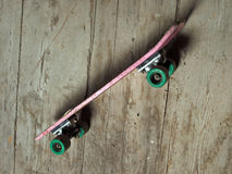 Grunge skateboard Stock Photo