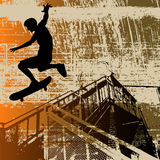 grunge skateboy иллюстрация вектора