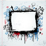 Grunge sketch frame illustration Royalty Free Stock Photo