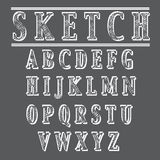Grunge sketch style alphabet Stock Photography