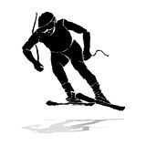 Grunge skier running Royalty Free Stock Photography