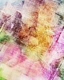 Grunge skrapad färgrik bakgrund Arkivfoto