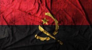 Grunge skrynklade den Angola flaggan framförande 3d Royaltyfri Foto