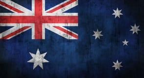 Grunge skrynklade den australiska flaggan framförande 3d Arkivbilder