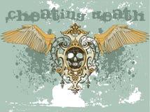 Grunge skull. Vintage design emblem of an skull Stock Image