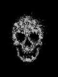 Grunge skull. Abstract grunge vector illustration of a skull created from ink drops Stock Photos