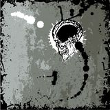 Grunge skull. Design with gary background - vector Royalty Free Stock Image