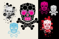 Grunge skull. Set from grunge vector skulls Royalty Free Stock Image