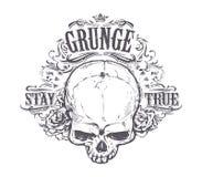 Grunge Skull Art Stock Image