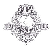 Grunge Skull Art Stock Photos