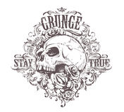 Grunge Skull Art Royalty Free Stock Photo