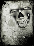 Grunge skull background Royalty Free Stock Images