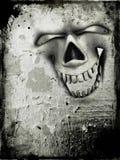 Grunge skull background. Grunge style background with evil skull Royalty Free Stock Images
