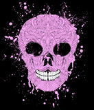 Grunge skull on black background. Royalty Free Stock Photo