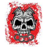 Grunge skull coat of arms Royalty Free Stock Photography