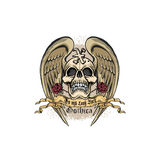 Grunge skull coat of arms Royalty Free Stock Photos