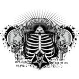 Grunge skull coat of arms. Gothic coat of arms with skull, grunge.vintage design t-shirts Stock Image
