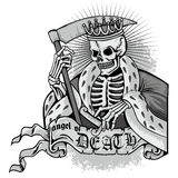 Grunge skull coat of arms. Gothic coat of arms with skull, grunge.vintage design t-shirts Royalty Free Stock Images
