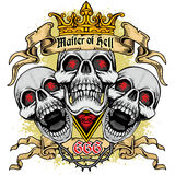 Grunge skull coat of arms. Gothic coat of arms with skull, grunge.vintage design t-shirts Stock Photos