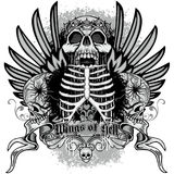 Grunge skull coat of arms Stock Image