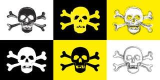 Grunge Skull Collection. Six Skull Illustrations - Grunge Style Royalty Free Stock Photos