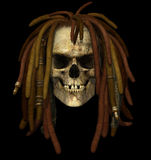 Grunge Skull with Dreadlocks Royalty Free Stock Photography