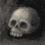 Grunge skull stock illustration