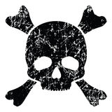 Grunge skull isolated on white Stock Photo