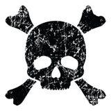 Grunge skull isolated on white. ( illustration Stock Photo