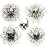 Grunge skull ornament. Abstract grunge skull design, vector illustration, gothic Stock Photography