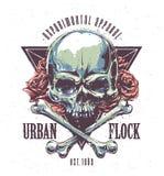 Grunge Skull Print Stock Image