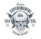 Grunge Skull Print Stock Photos