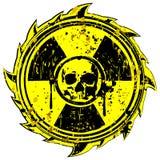 Grunge skull radiation Royalty Free Stock Images