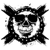 Grunge skull. Vector illustration skull on grunge background. For tattoo or t-shirt design Stock Photo