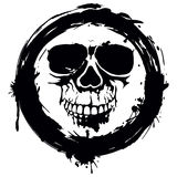 Grunge skull Stock Photo