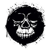 Grunge skull Stock Image