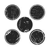 Grunge skutka okręgu kolekcje Sztandary, insygnie, logowie, ikony, etykietki i odznaki Ustawiający, cierpienie tekstury puści ksz Fotografia Royalty Free