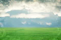 Grunge sky and field background in vintage colour Royalty Free Stock Photography
