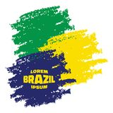Grunge Smears, using Brazil flag colors. Vector illustration Stock Photography