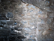 Grunge smoked stone wall Stock Images